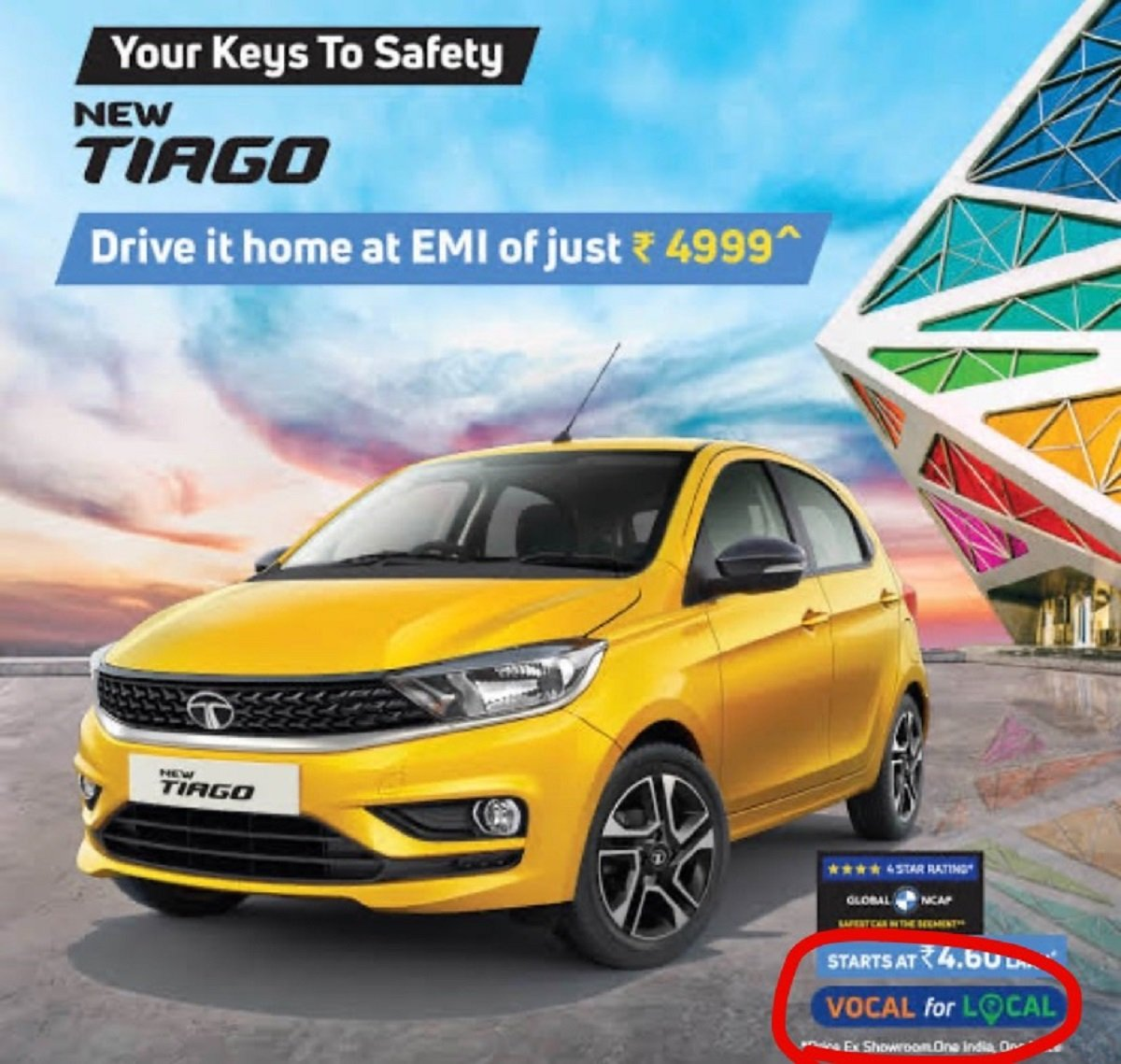 Tata Motors Uses 'Vocal for Local' Appeal to Promote Tiago