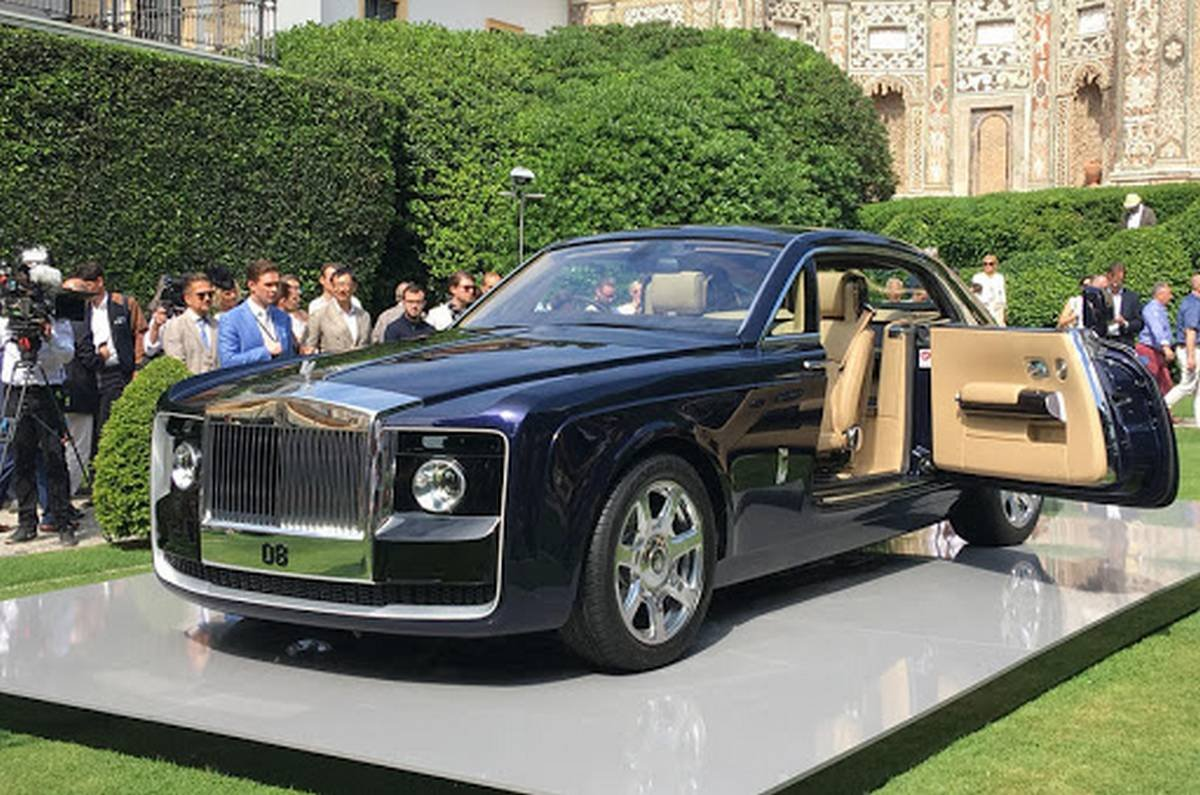 rolls royce sweptail front three quarters