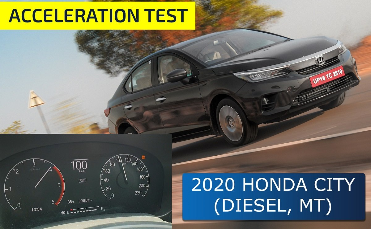 2020 Honda City Diesel-manual 0-100 kmph Acceleration Test