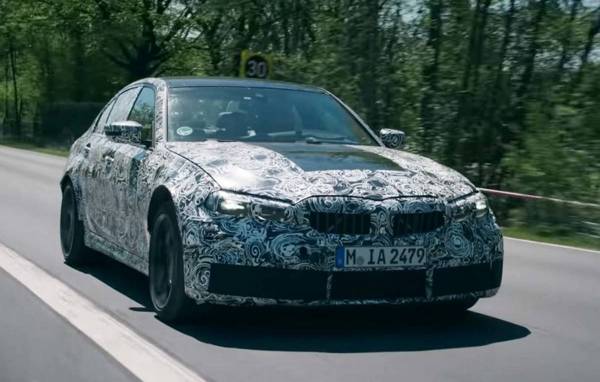 2021 bmw m3 front three quarters