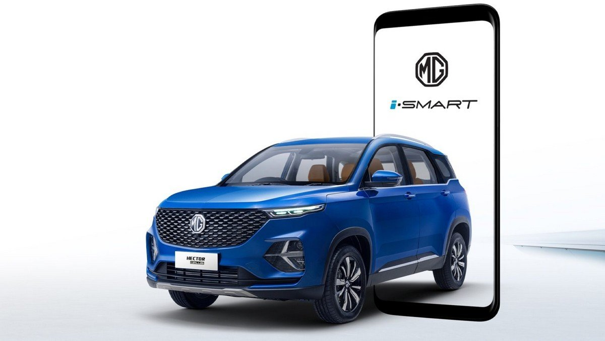 mg hector plus exterior front three quarter