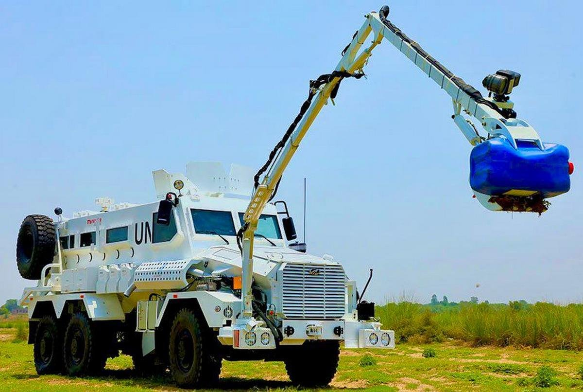 mahindra mine resistant vehicle