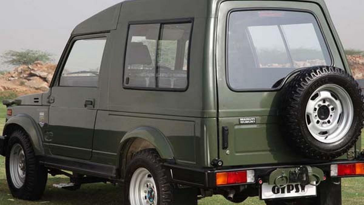 maruti gypsy indian army rear angle