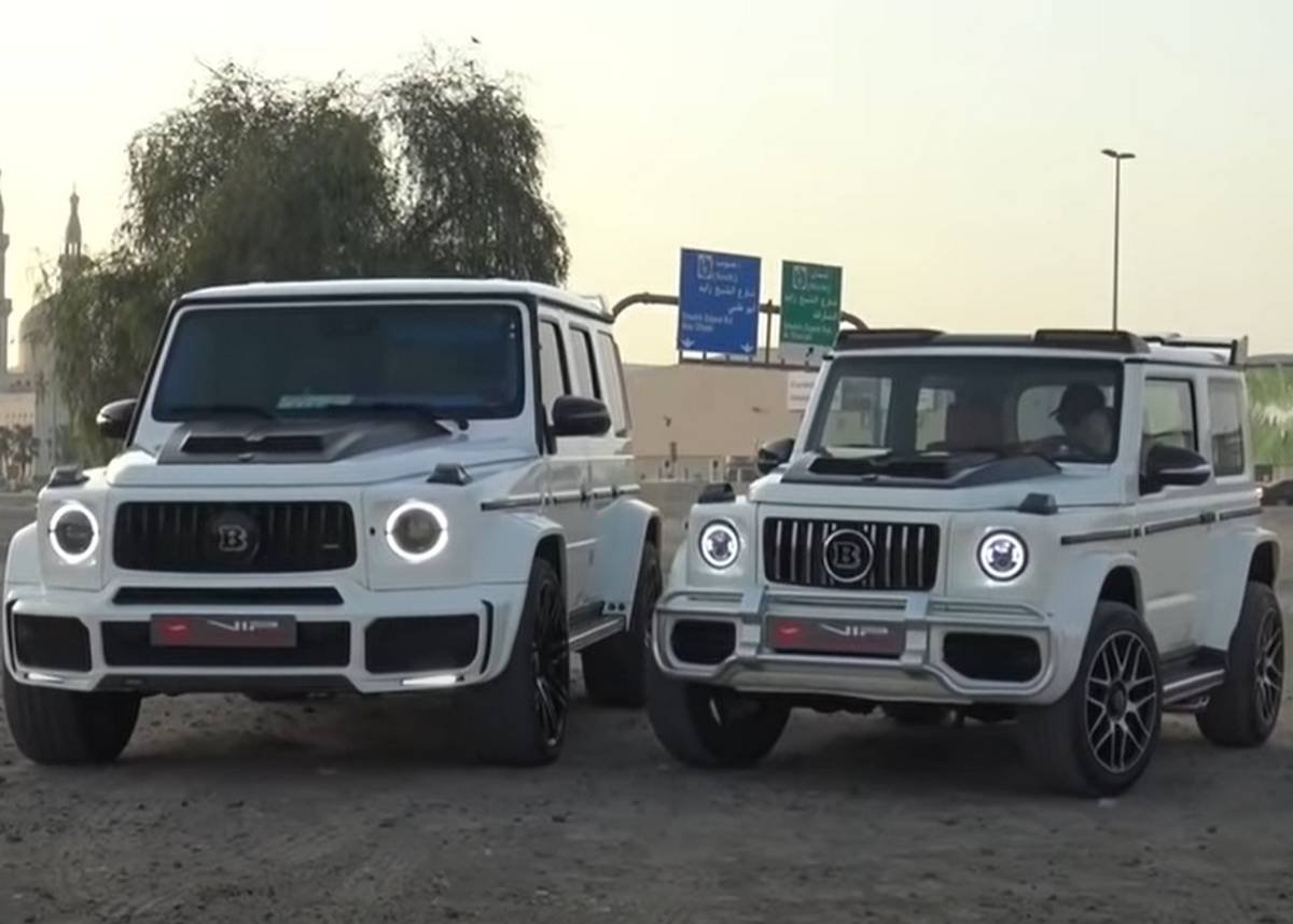 mercedes g-wagon vs suzuki jimny