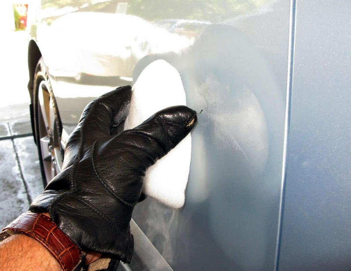 how to remove car dents - dry ice