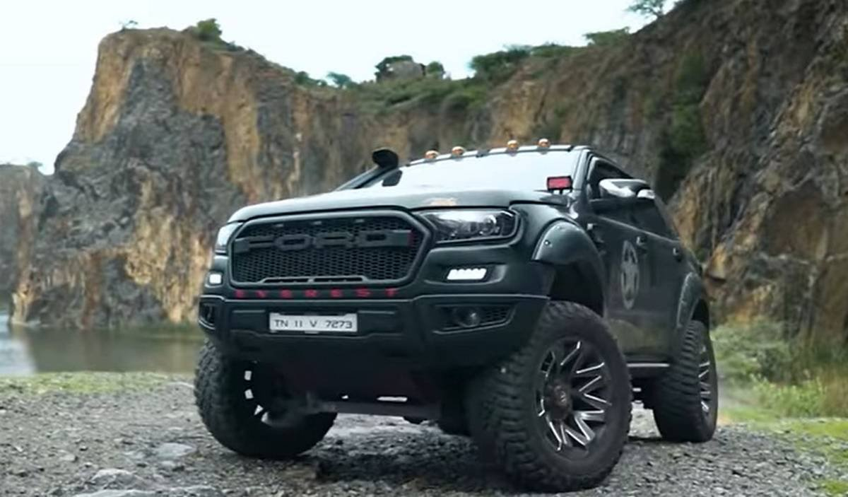 modified ford endeavour front three quarters