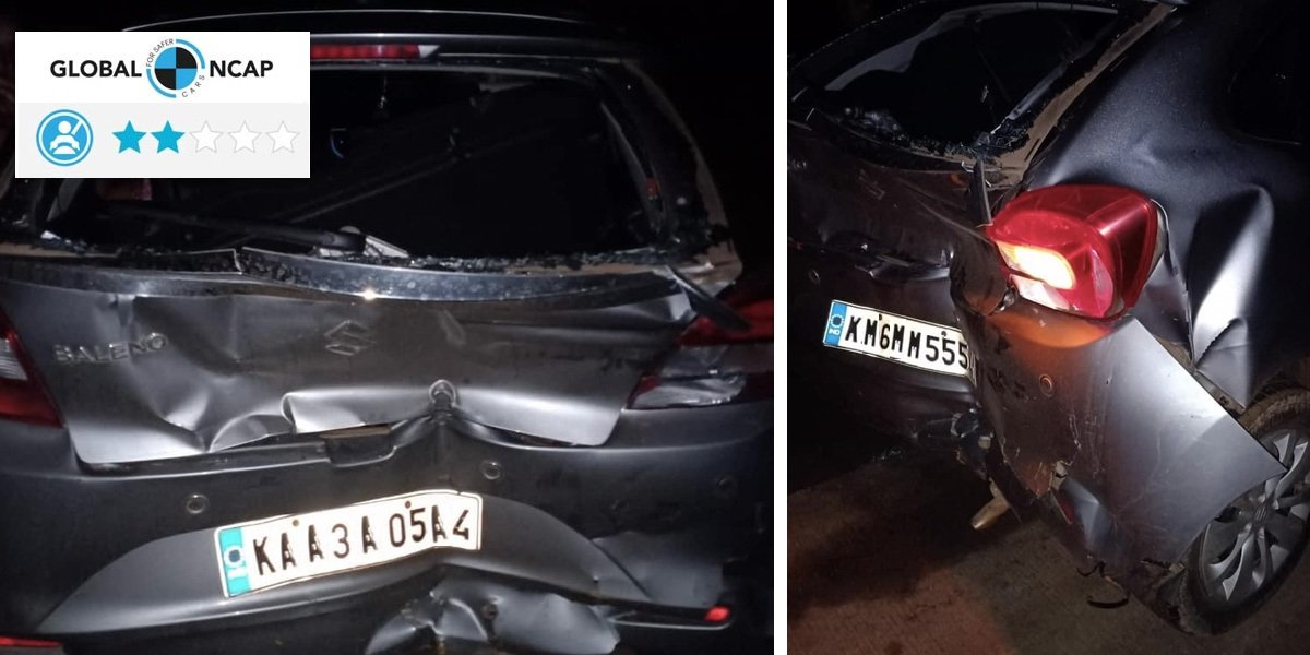 Maruti Baleno (2-star NCAP) Hit by Fully-loaded Tata Ace, All Safe