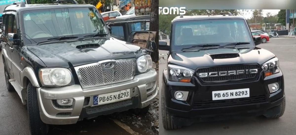 mahindra scorpio modified before after