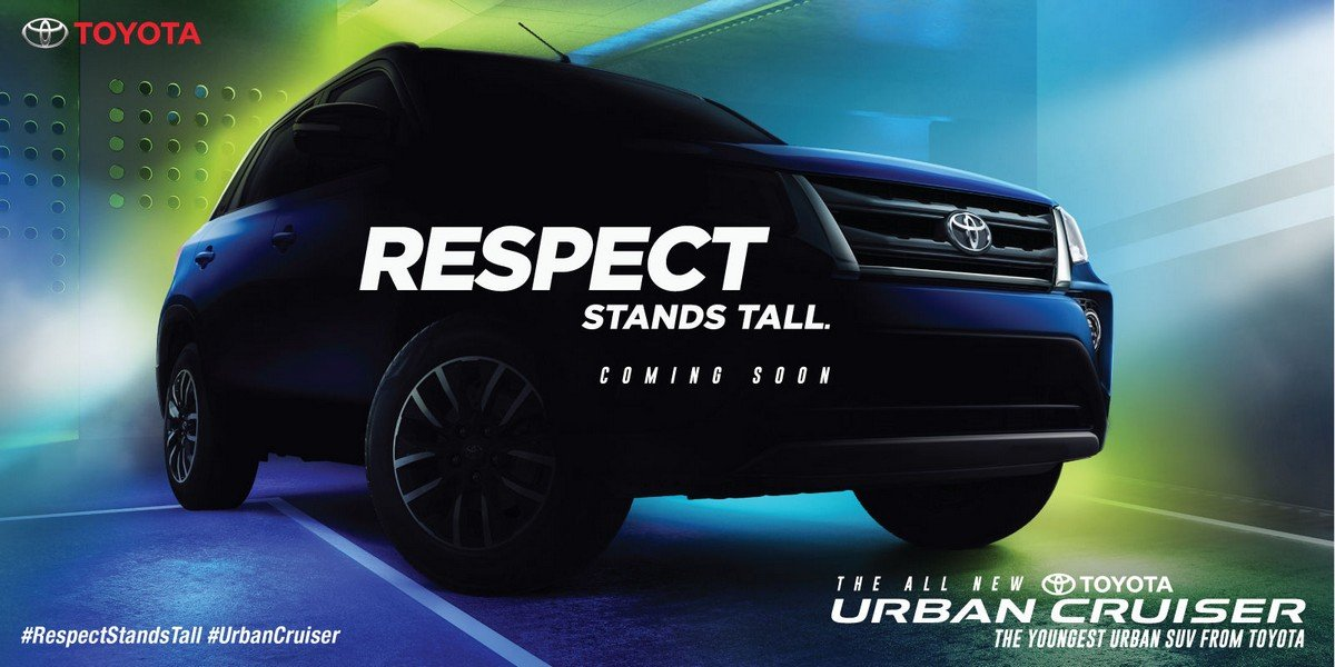 toyota urban cruisers teaser front end