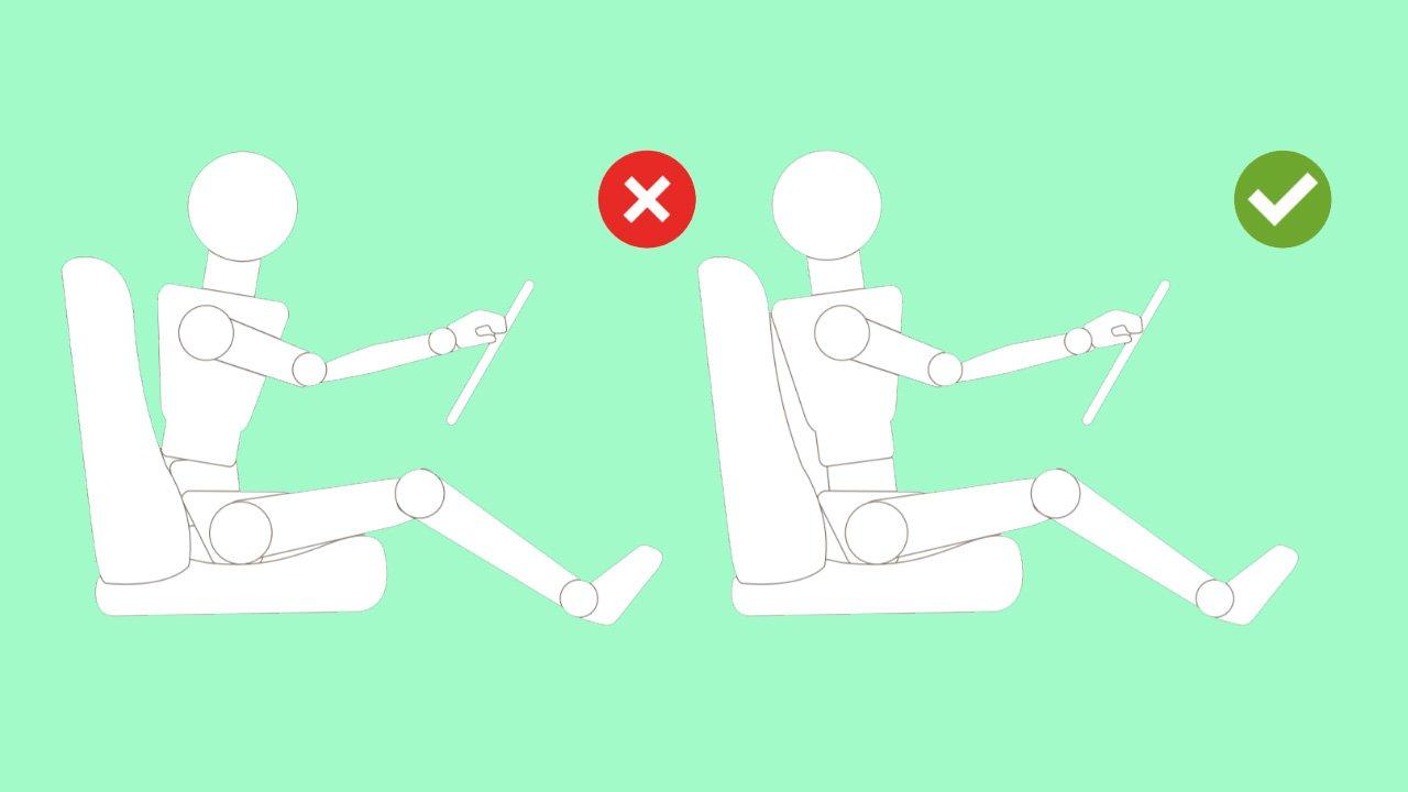 correct driver seat posture