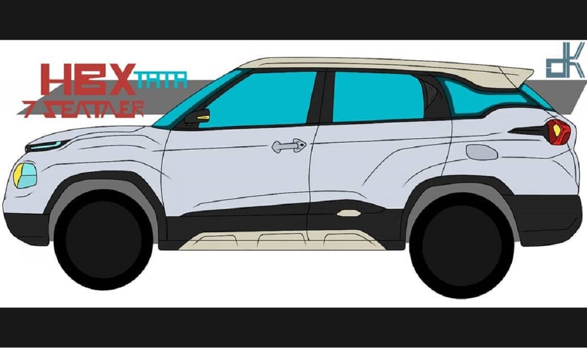 7-Seater Tata HBXRendered In Vector Drawing, Will Rival Maruti XL6
