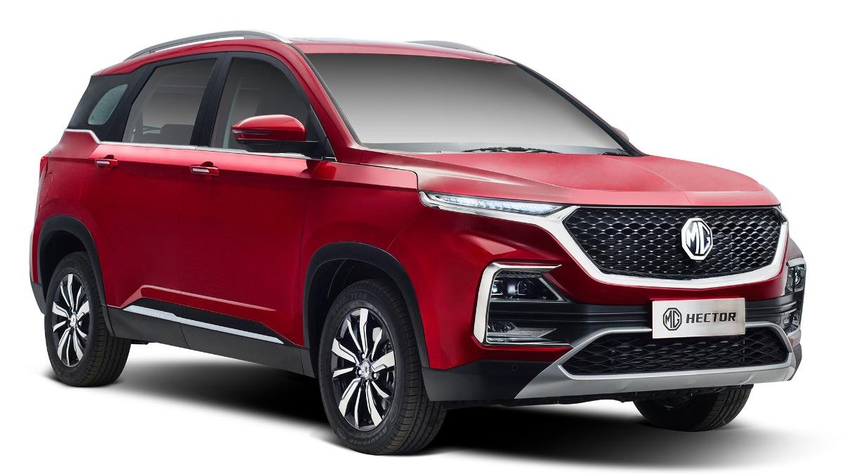 mg hector three quarter front