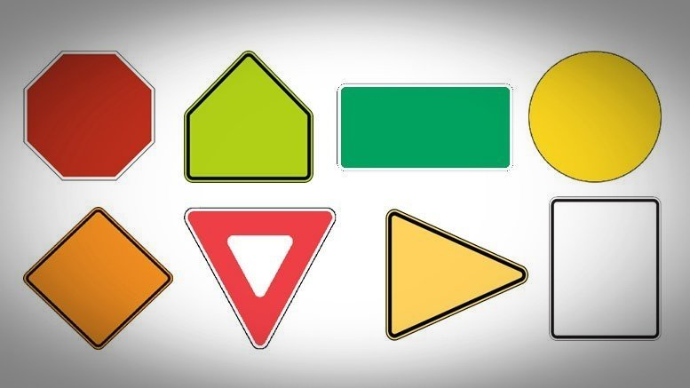 traffic sign shape meaning