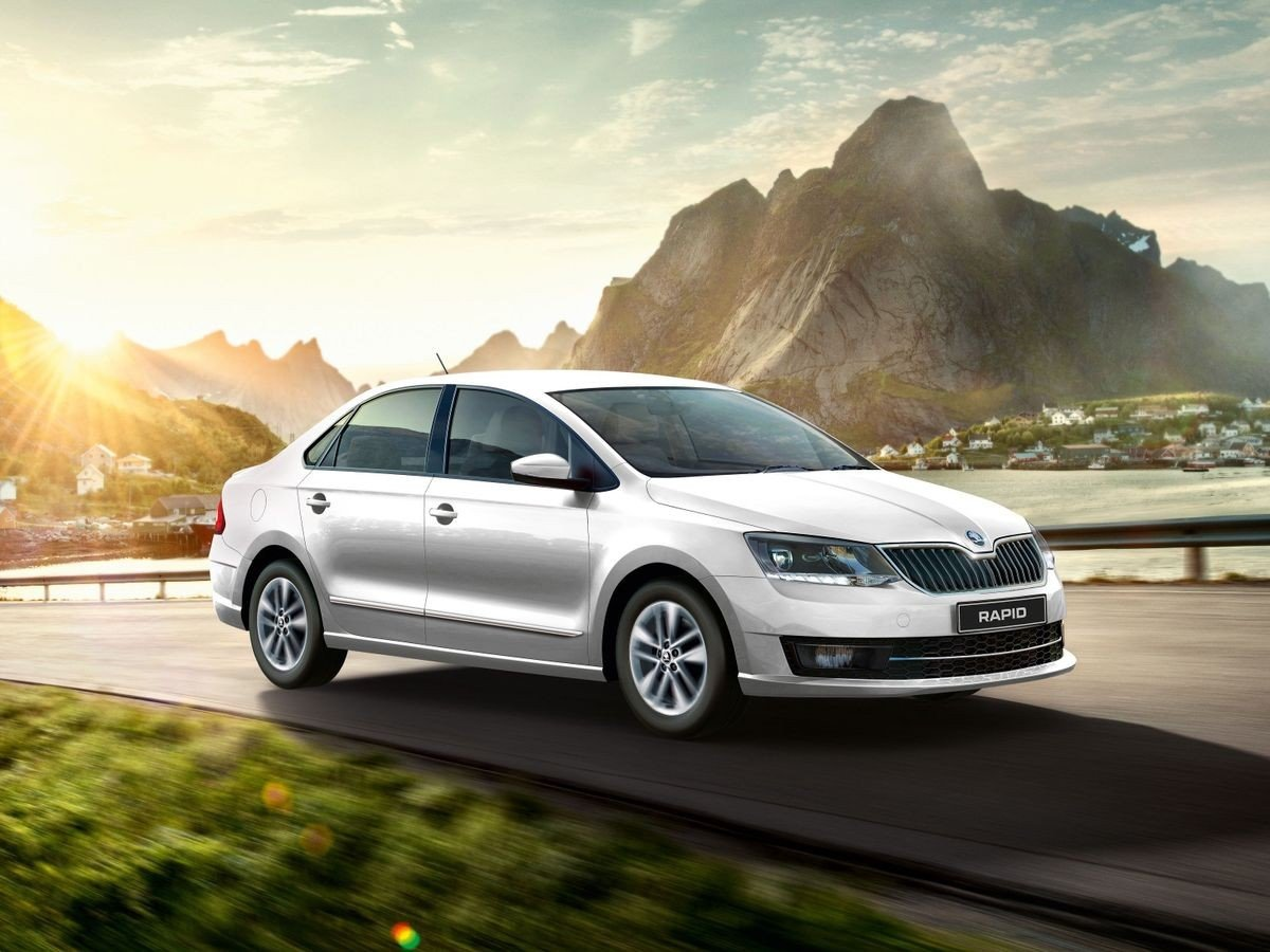 skoda rapid three quarter