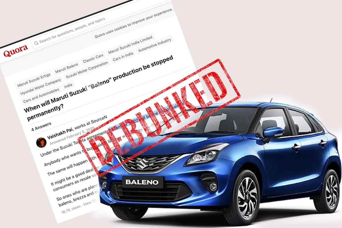 Maruti Baleno to be Discontinued in December 2020? - Rumour Debunked
