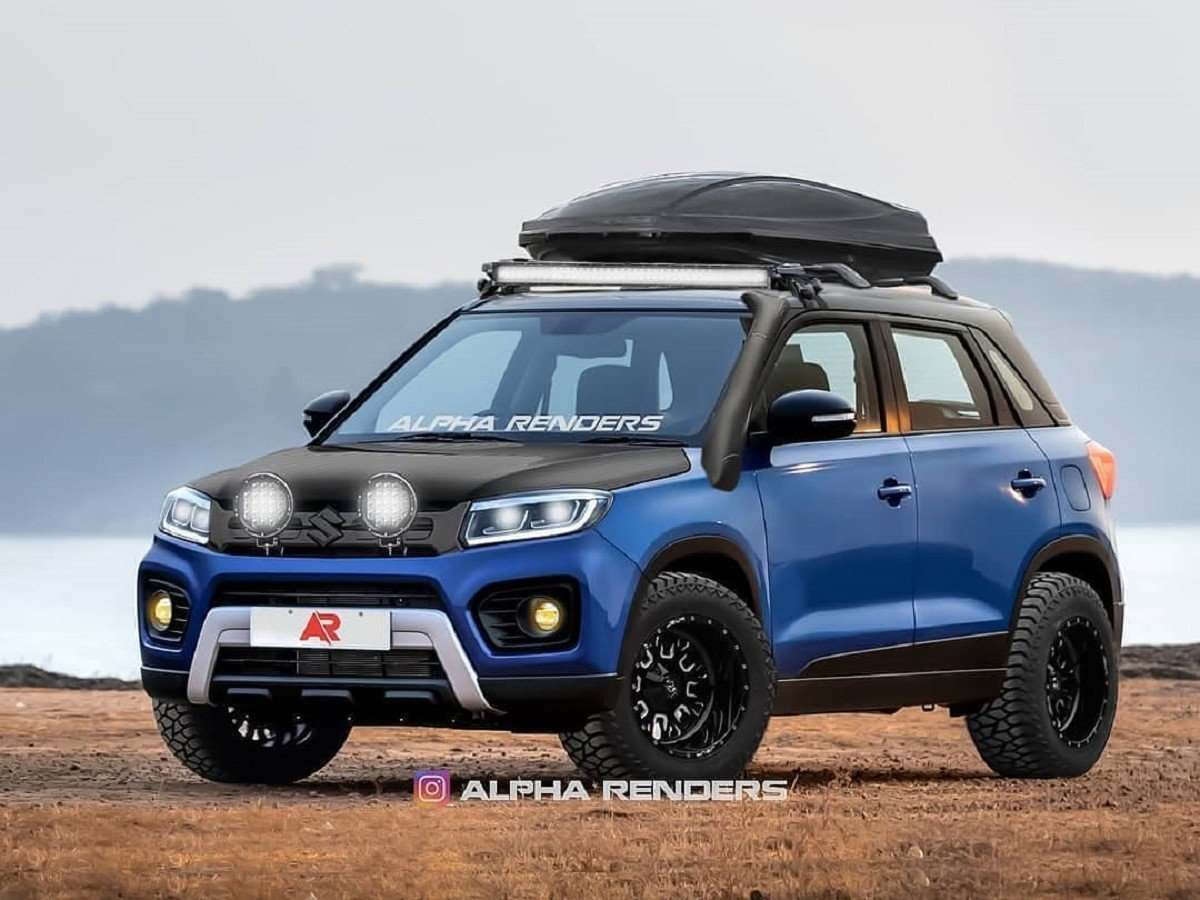 2020 Maruti Vitara Brezza Looks Ready For Cross-country Drive In This Rendering