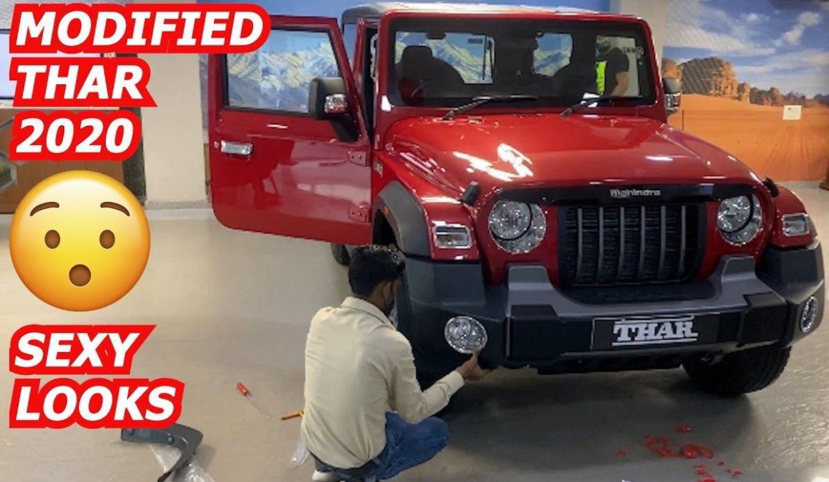2020 Mahindra Thar Modified with OEM Accessories – VIDEO