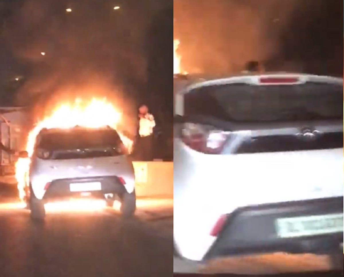 Tata Nexon Burns to Ashes in Nation's Capital, Everyone Safe