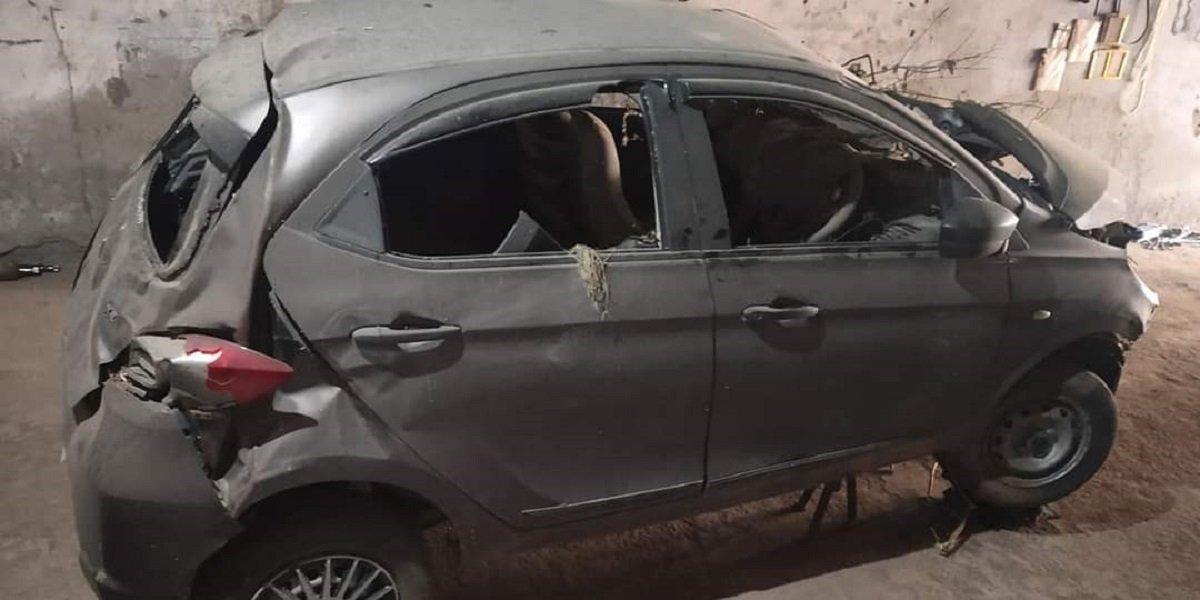 Tata Tiago (4-star NCAP) Totaled In Accident, All Passengers Safe.