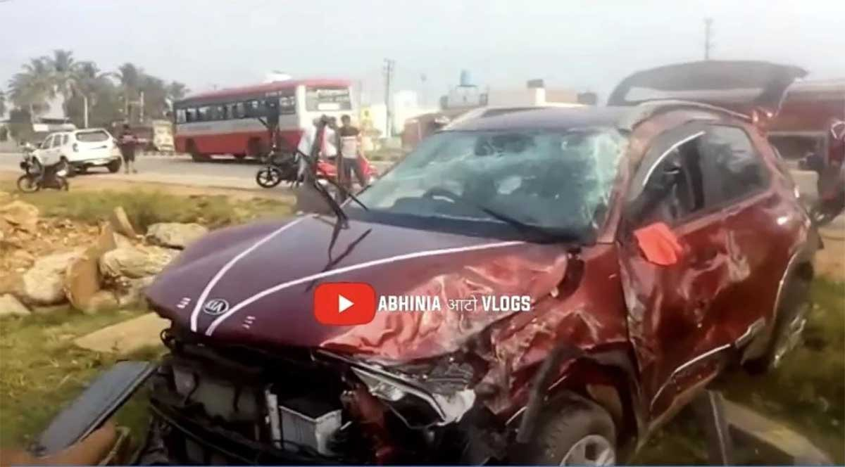 Out-of-control Kia Sonet (NCAP - NA) ROLLS OVER TWICE, Keeps Occupants Safe