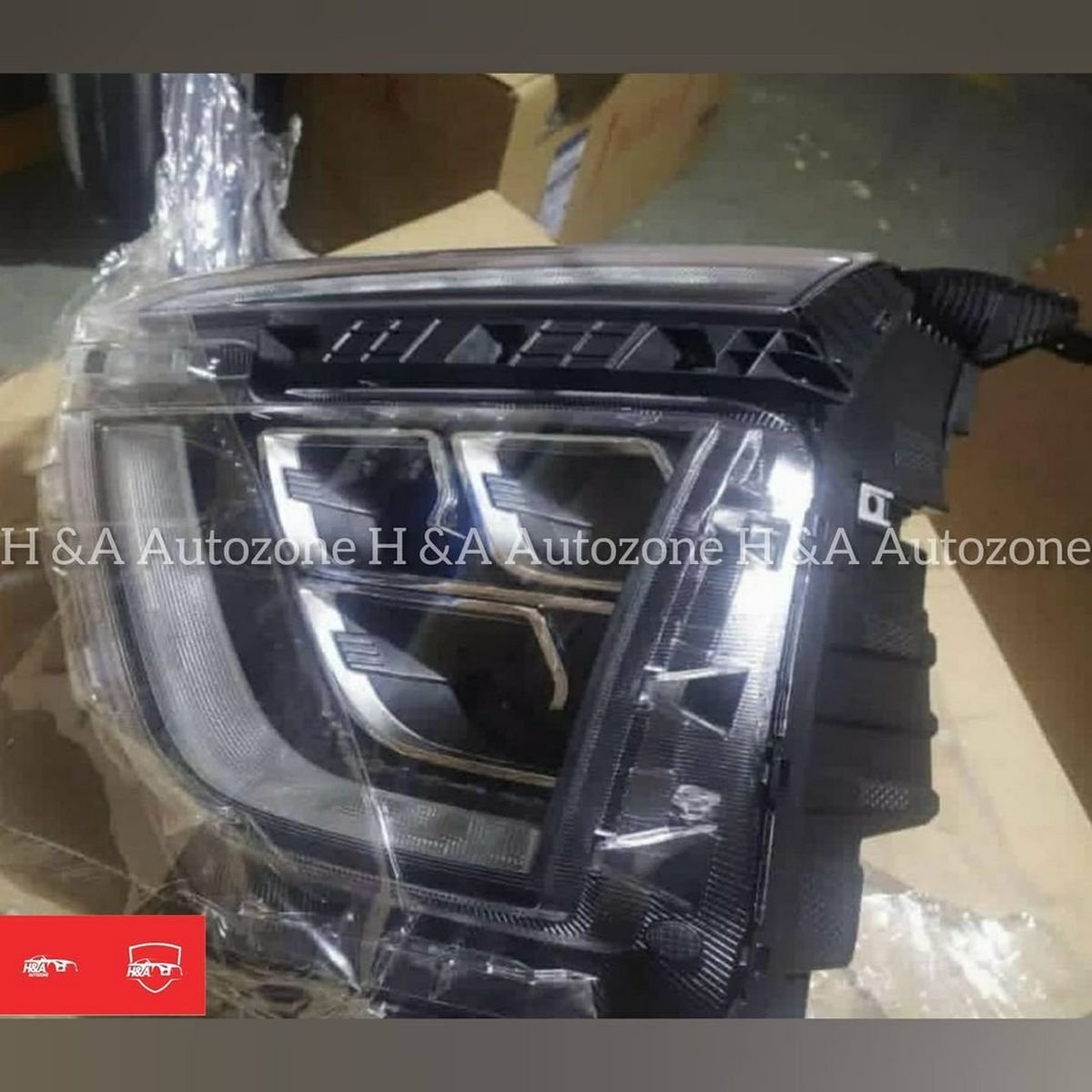 Front-look-of-aftermarket-LED-projector-headlamps-for-2020-Hyundai-Creta