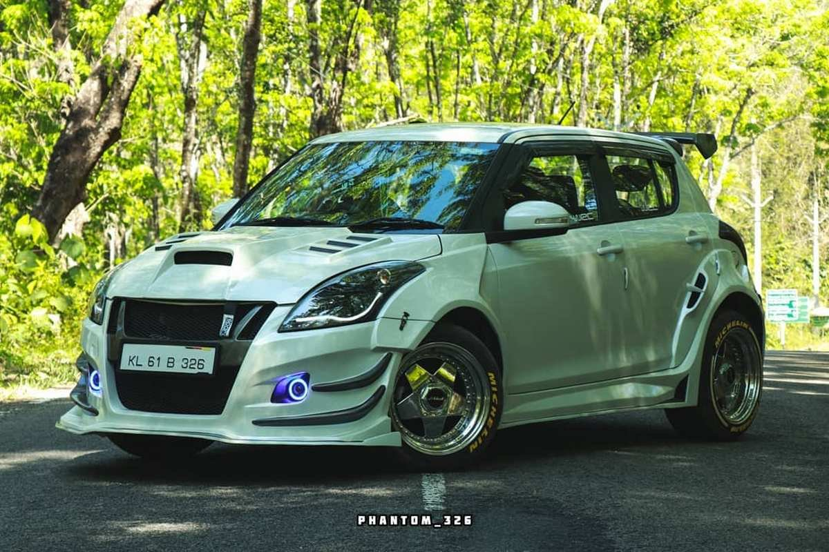 Front-side-look-of-Maruti-Swift