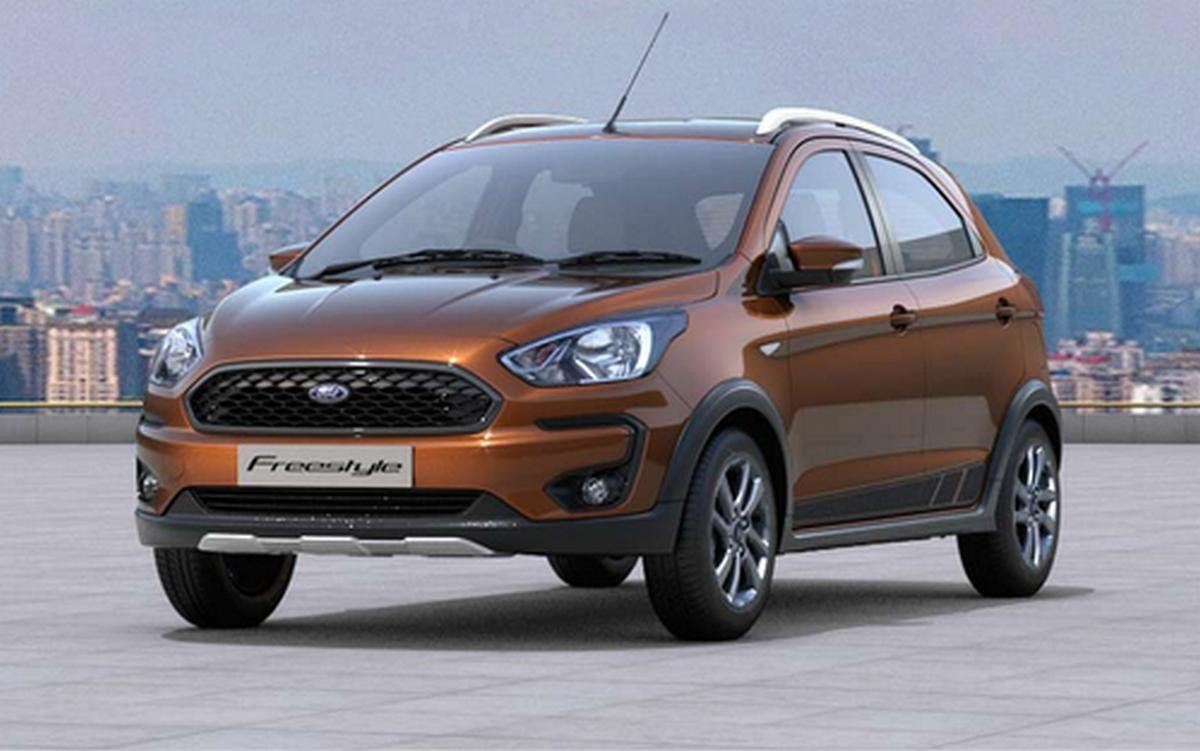ford cars under 10 lakh - ford freestyle front angle