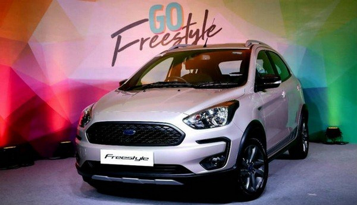 best cars for beginners in India Ford freestyle front face in showroom