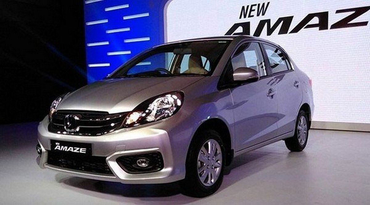best cars for beginners in India Honda Amaze at showroom