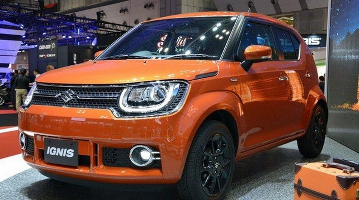 best cars for beginners in India Maruti Suzuki Ignis front face showroom background
