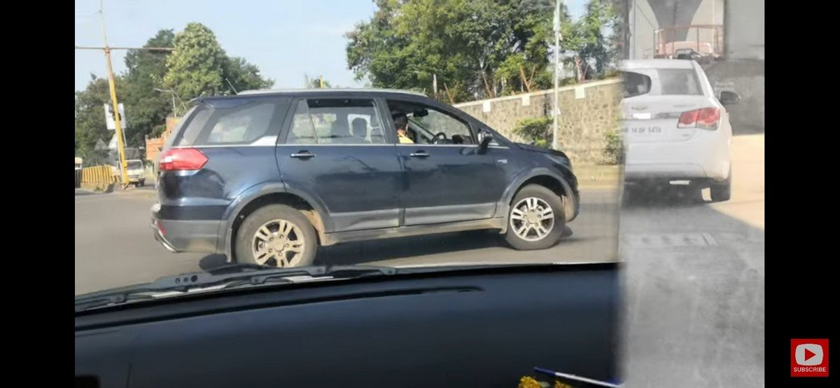 Upcoming tata 7 seater cars in India tata-hexa-bsvi-spy-side-profile
