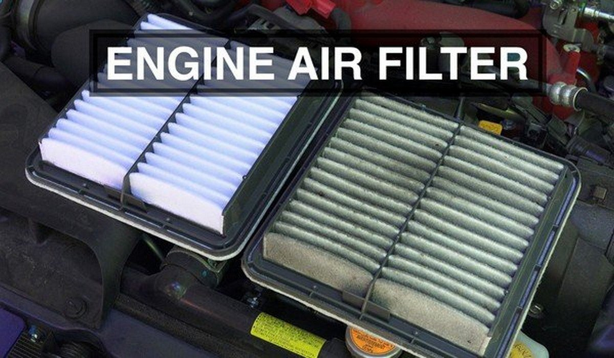 Clean vs dirty engine air filter