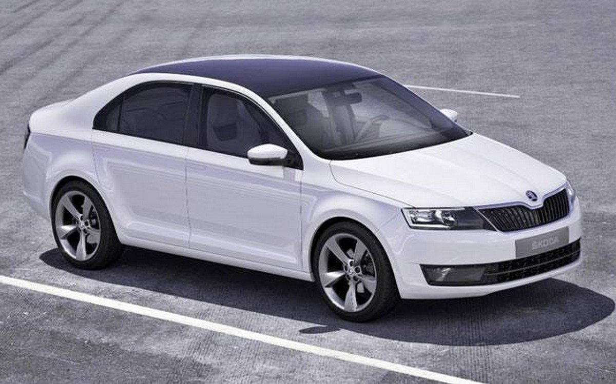 Skoda Rapid front side view