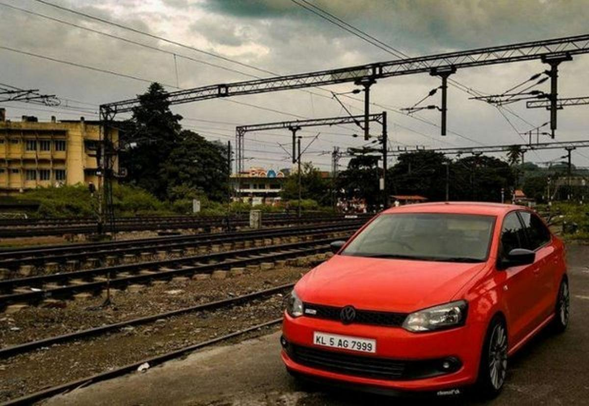 Side shot of the Vento, Modified Volkswagen Vento