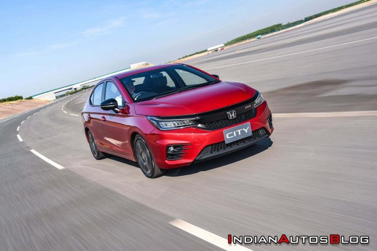 2020 honda city front three quarters