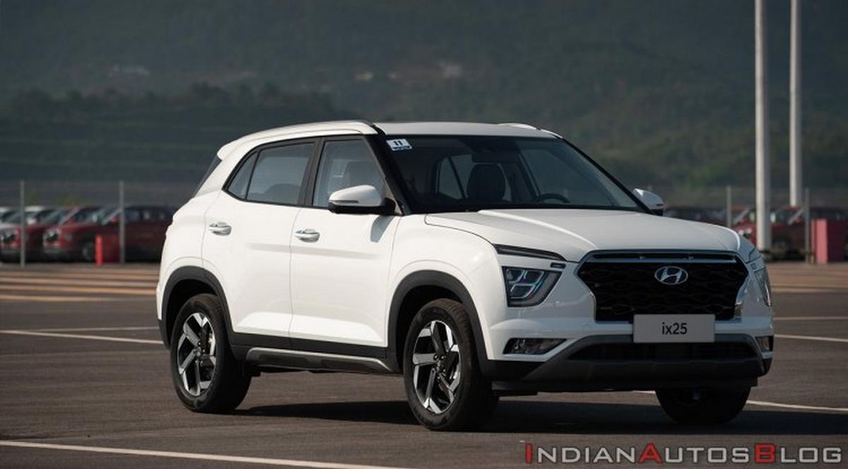 2020 Hyundai Creta ix25 white front angle