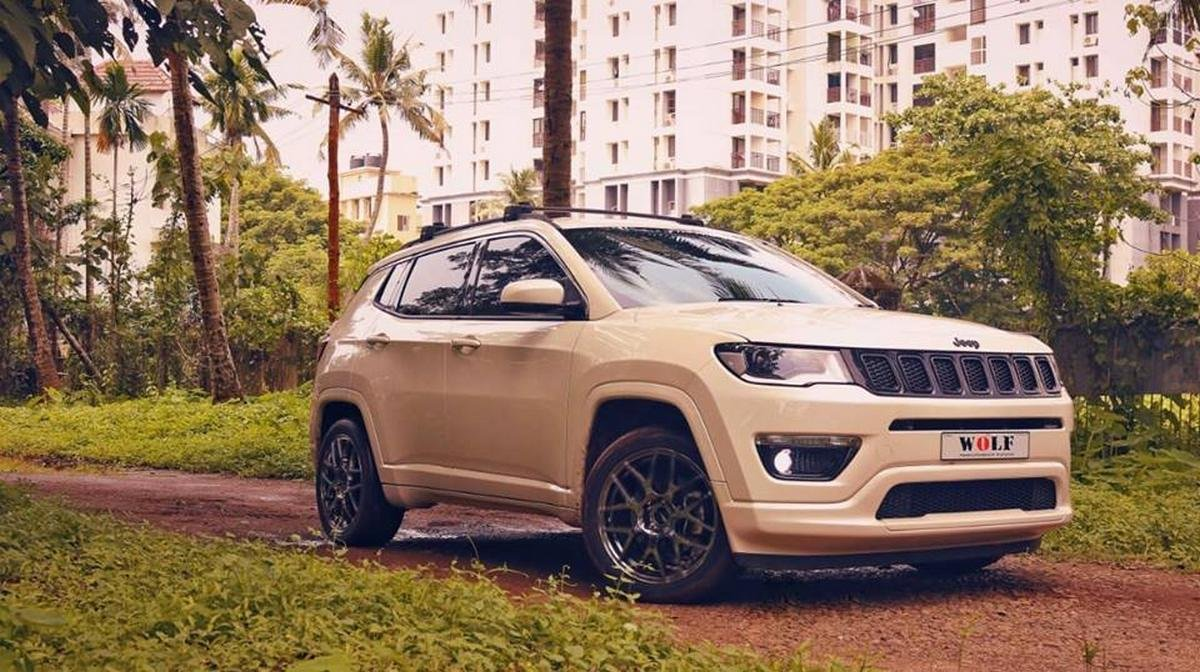 modified jeep compass front three quarters right side