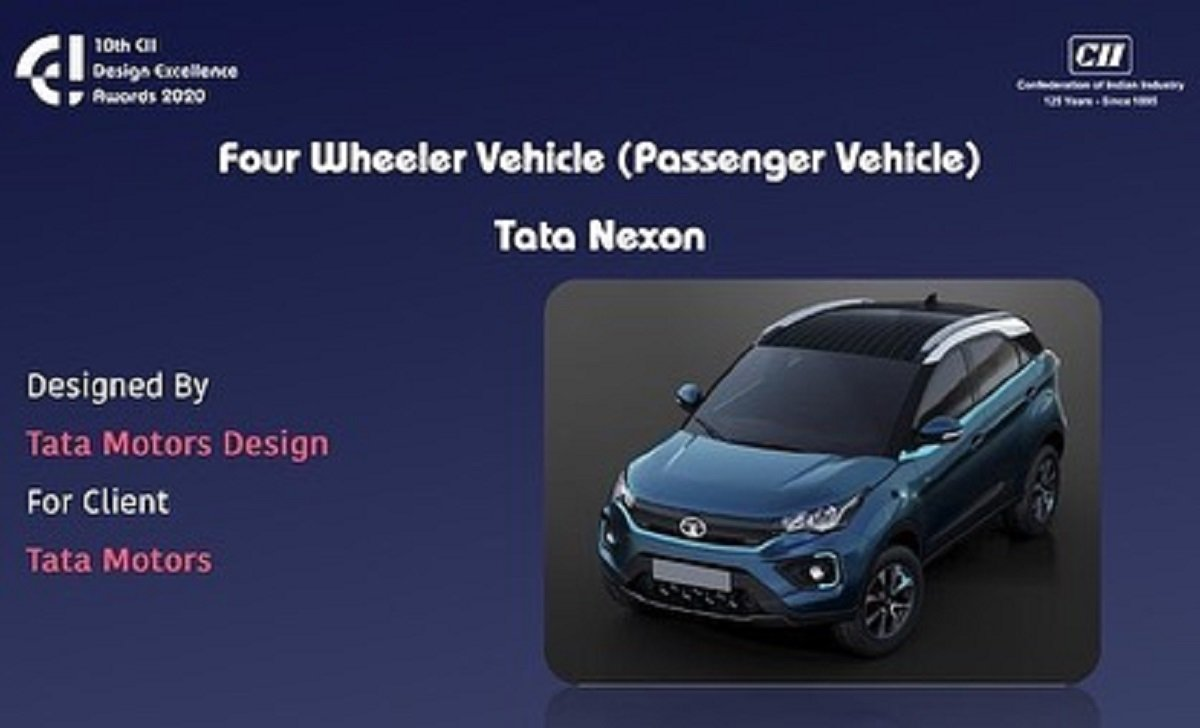 Tata Nexon Bags Design Excellence Award From CII