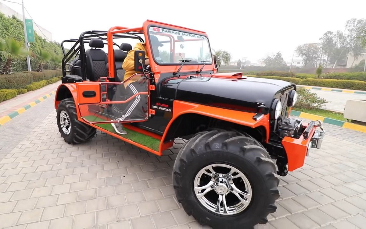 modified mahindra thar with four door