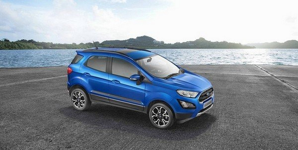 Ford EcoSport blue color top view
