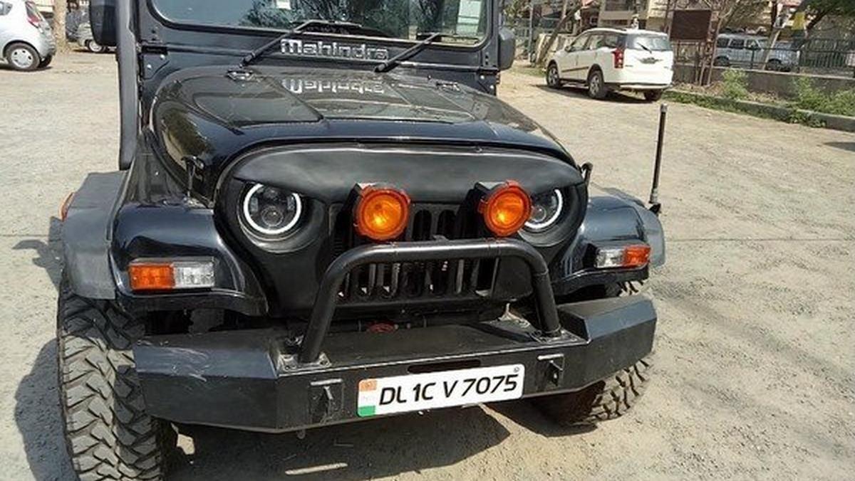 Angry Bird Mahindra Thar black front