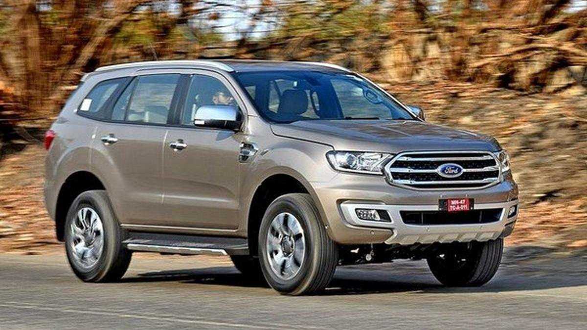 ford endeavour grey front angle
