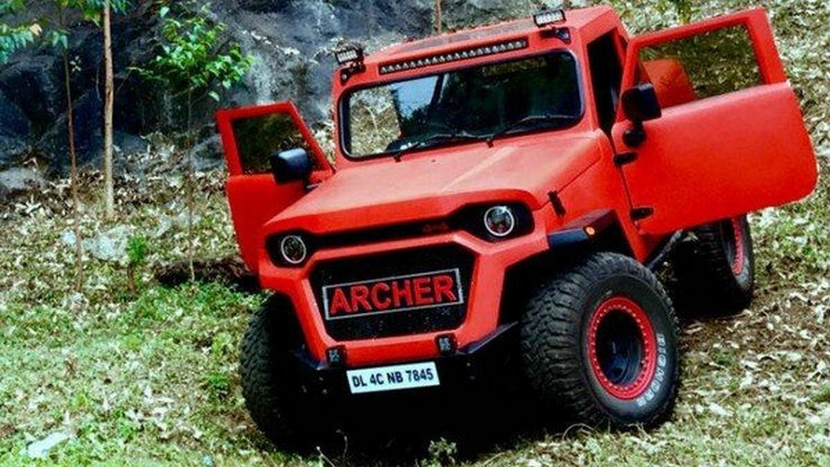 Mahindra Thar Archer red front