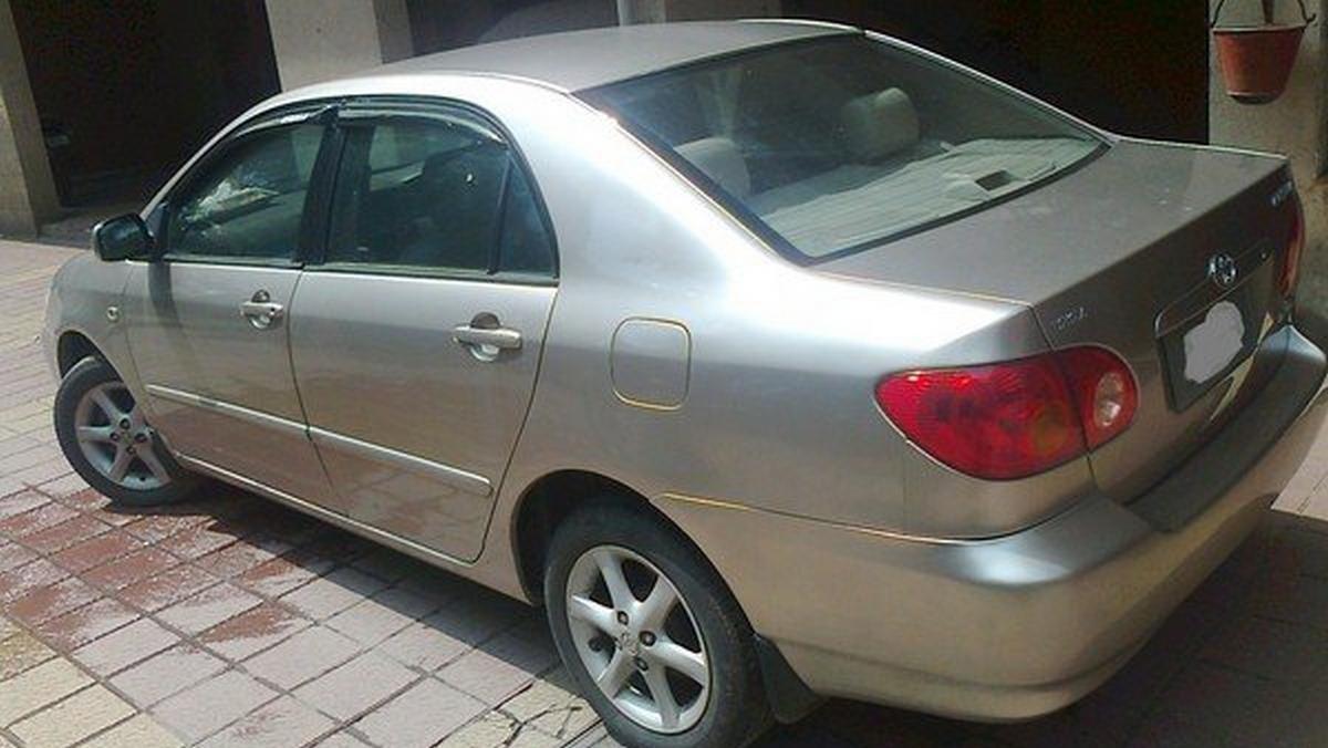 used Toyota Corolla silver rear