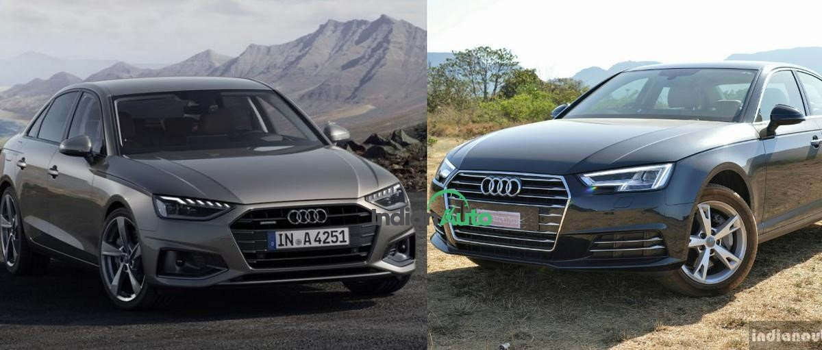 Audi A4 facelift old vs new image front angle