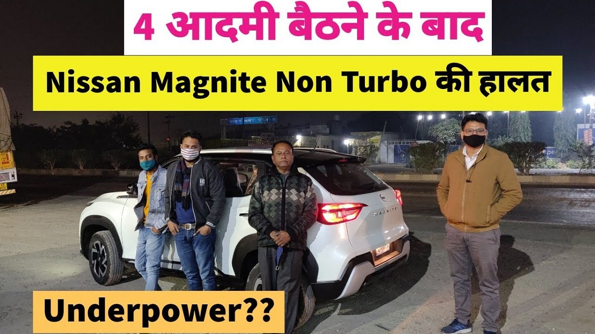 Nissan Magnite Non-turbo Trim Tested with 4 Occupants – VIDEO