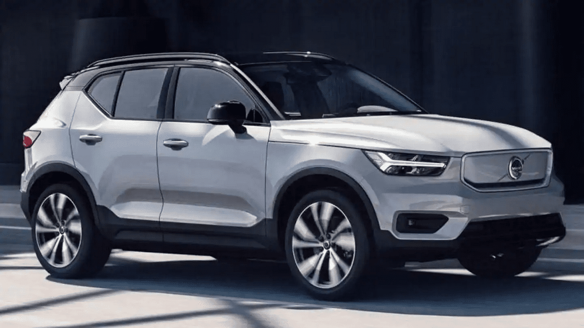upcoming electric cars in India Volvo-XC40-Recharge-front-side-look