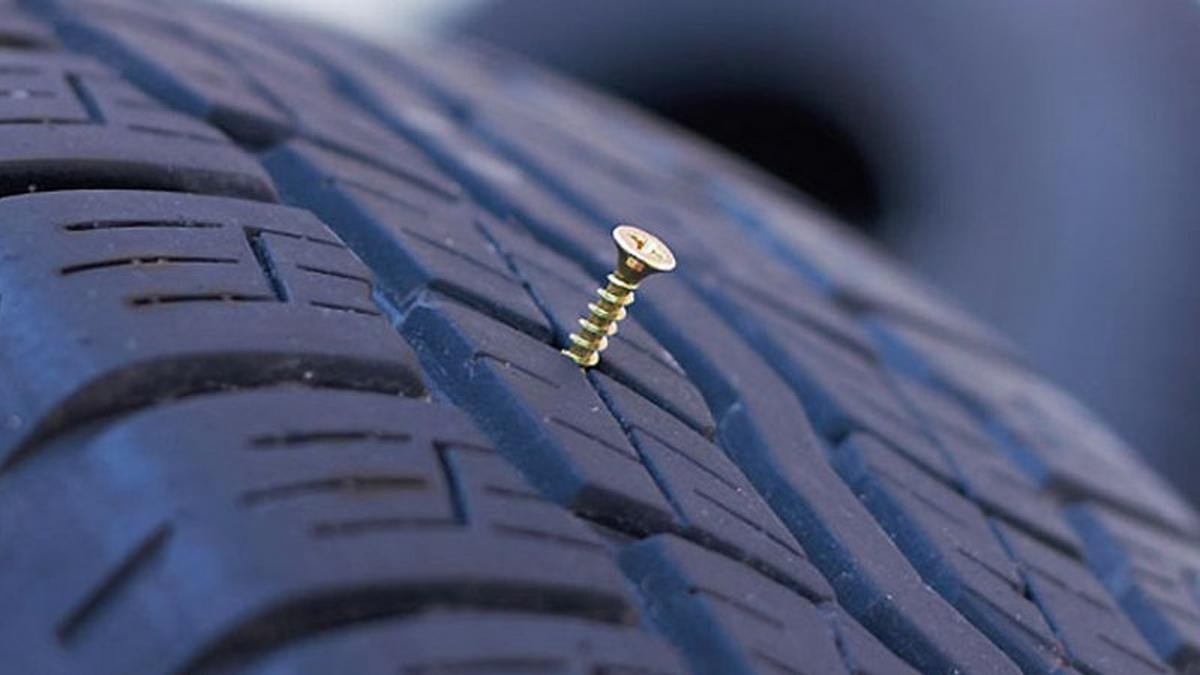puncture in a run flat tyre