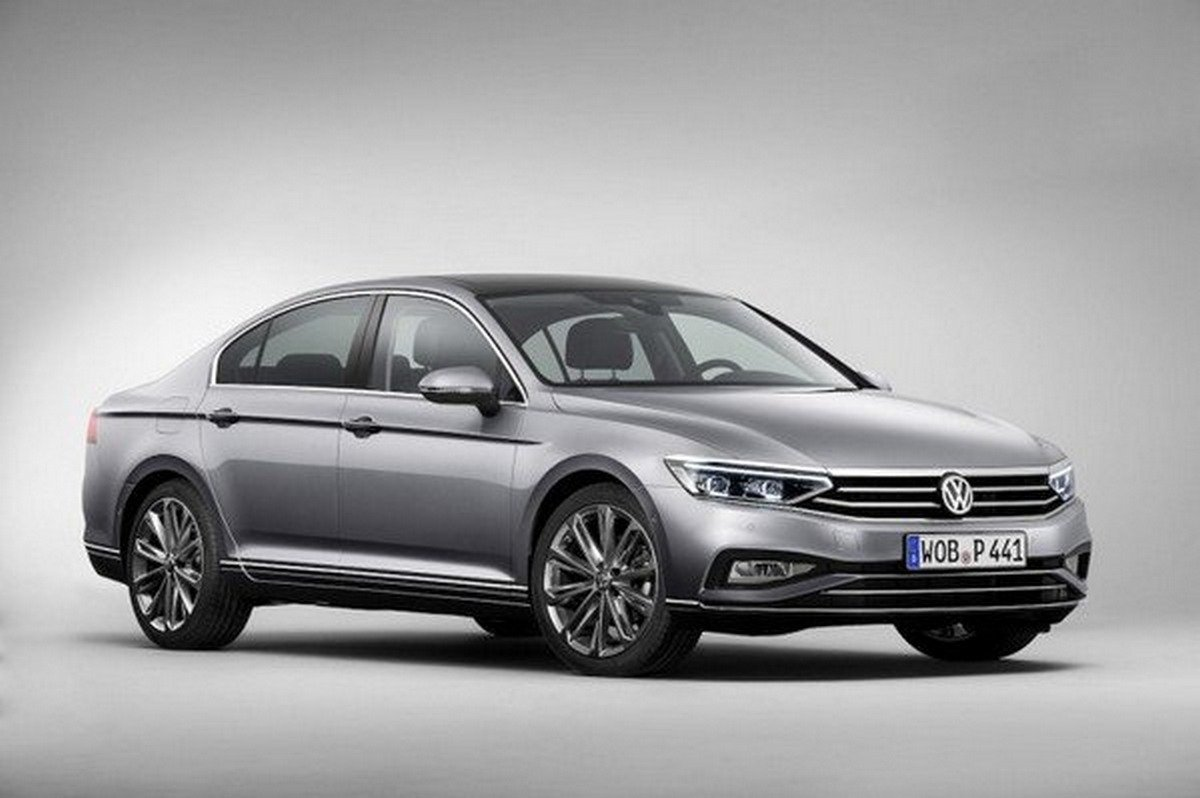 2020 vw passat silver front angle
