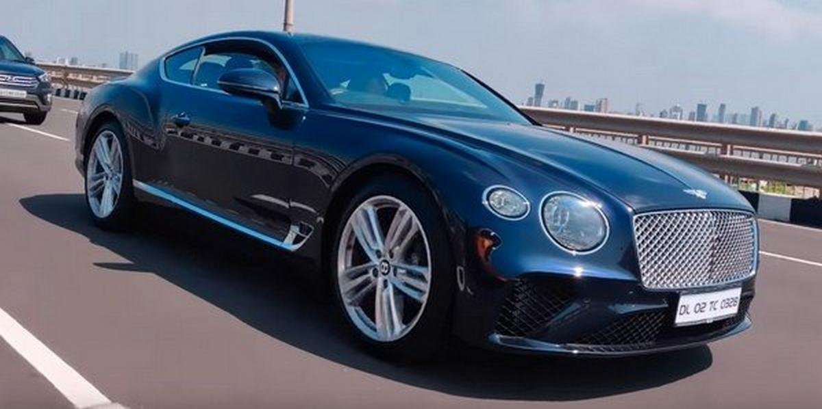 bentley continental gt test drive front three quarters